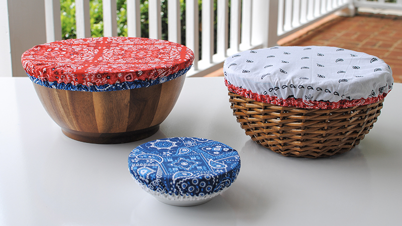 Just in time for summer! DIY Reusable Dish Covers
