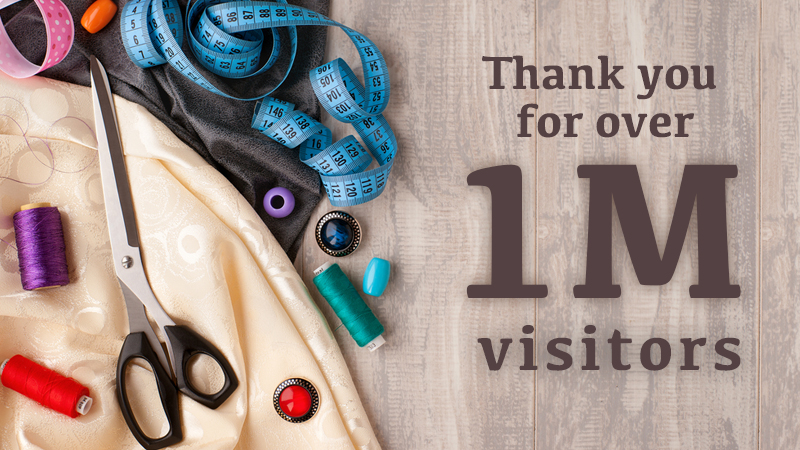 Over 1,000,000 Visitors to Stitching Sewcial