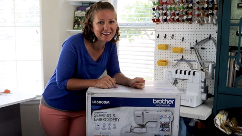Bam! Pow! Zoom! Unboxing the New LB5000M Sewing & Embroidery Machine