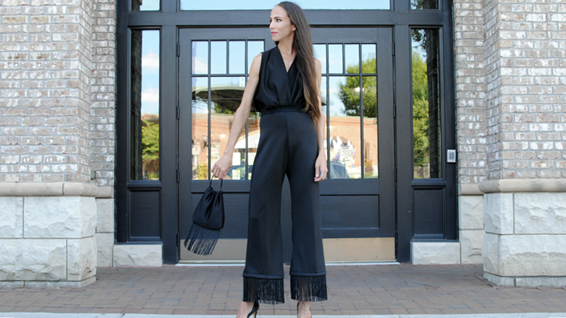 Get Stylin'! Fringed and Flowy Jumpsuit for NY Fashion Week