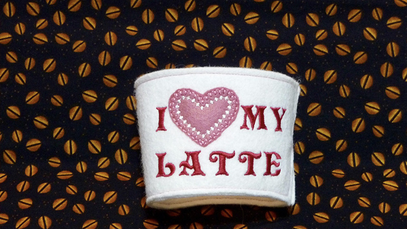 Free Design: Custom Cozy for Coffee Cup