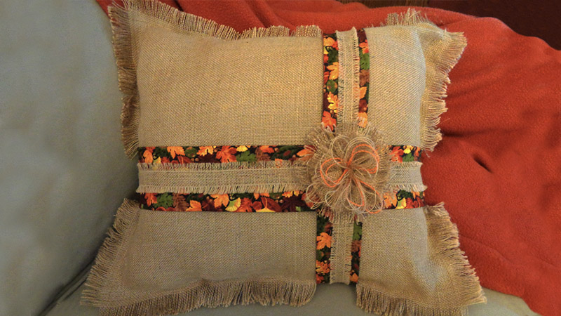 Autumn Inspired Harvest Time Pillow