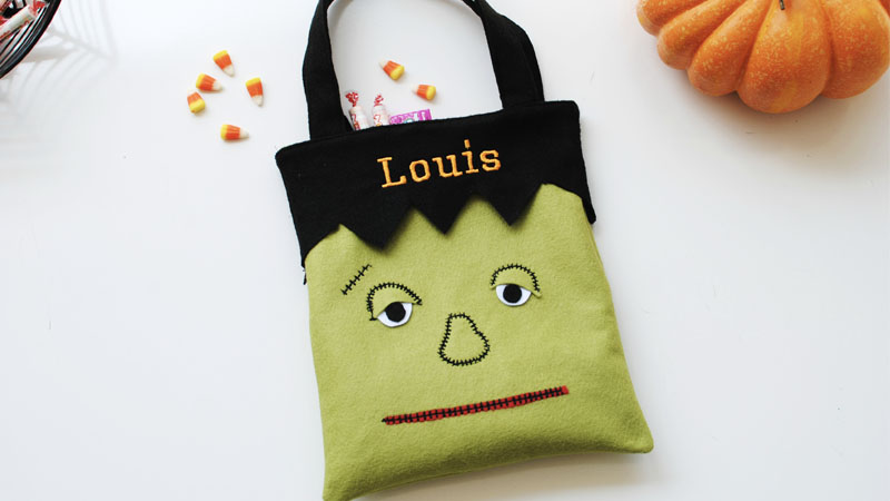 Funky Frankenstein Trick or Treat Bag