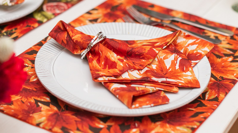 Warm and Inviting Reversible Holiday Placemats