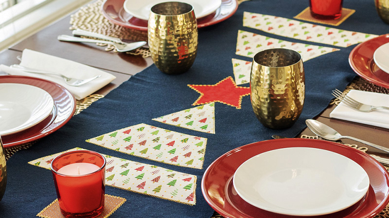 Christmas Tree Inspired Table Runner