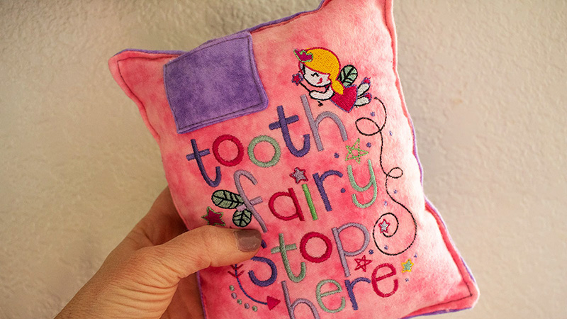 Adorable Tooth Fairy Pillow