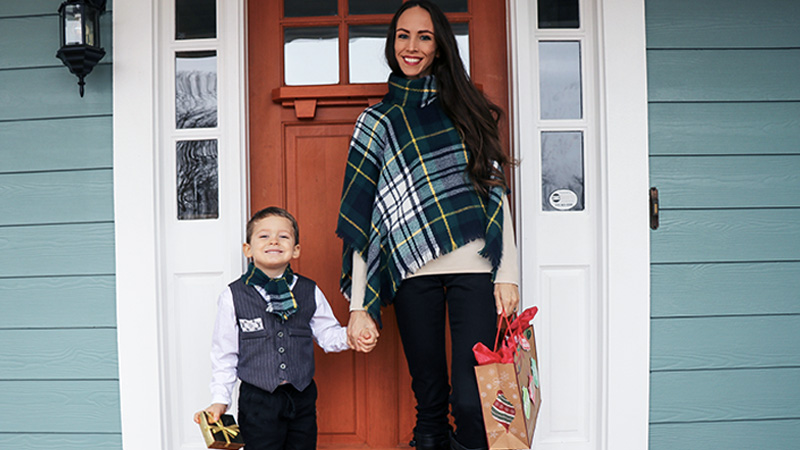 Cozy Plaid Poncho Project