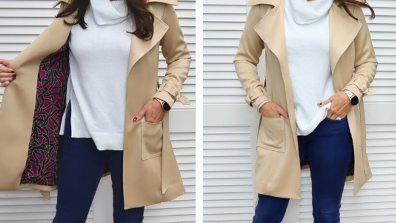 Angela Wolf Sew-A-Long: Chic Cashmere Trench Coat Part 4