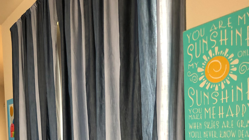 Fabulous Flat-Felled Denim Curtains