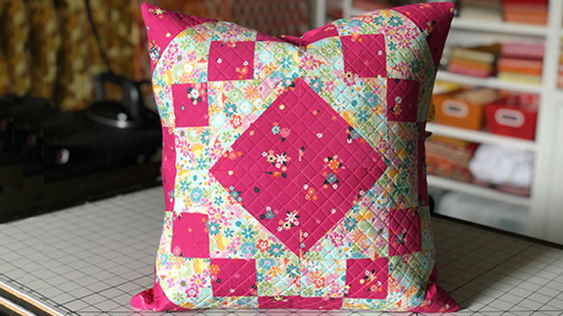 Fun Quilt Block Envelop Pillow