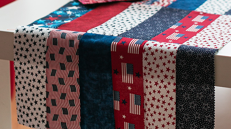 All-American BBQ Table Runner