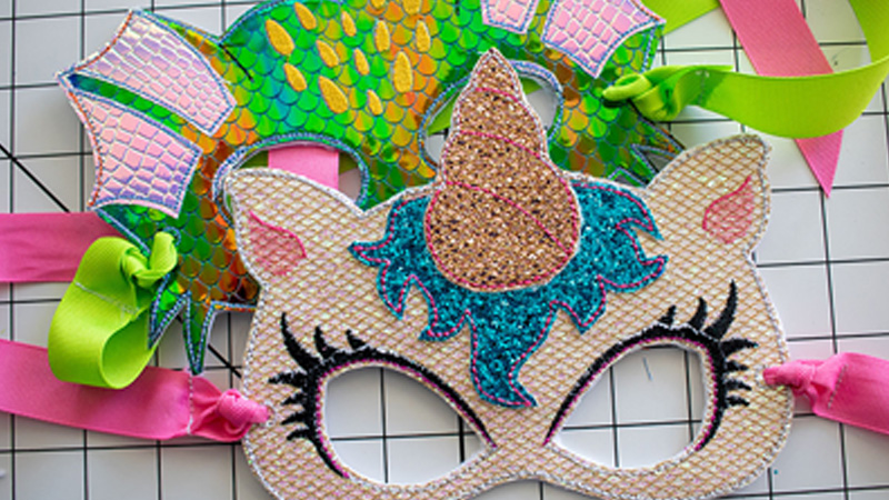 Majestic Embroidered Masks for Kids