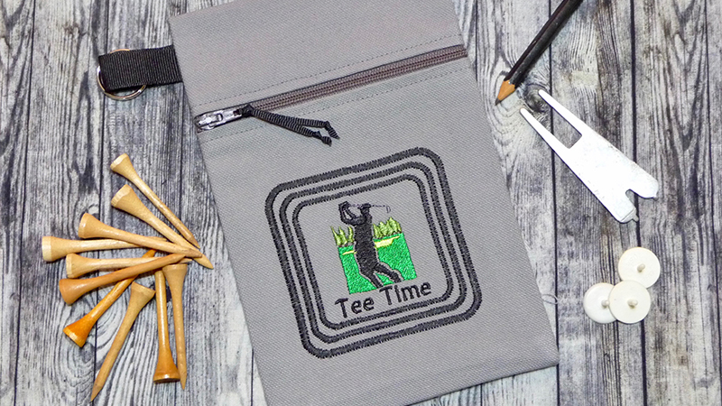 Free Design: Tee Time Golf Pouch