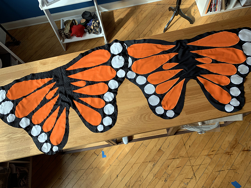 Front and back wings
