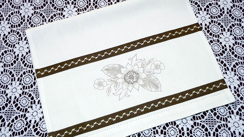 Free Design: Bobbin Work Tea Towel
