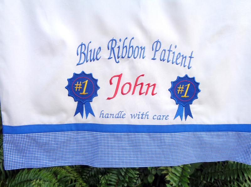 Finished Blue Pillow Case