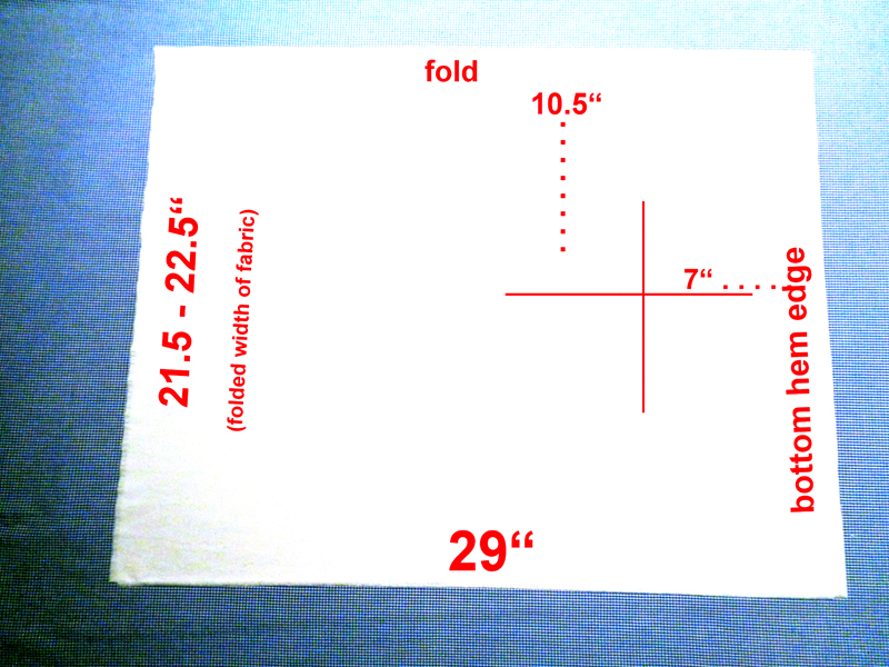 Mark and measure fabric