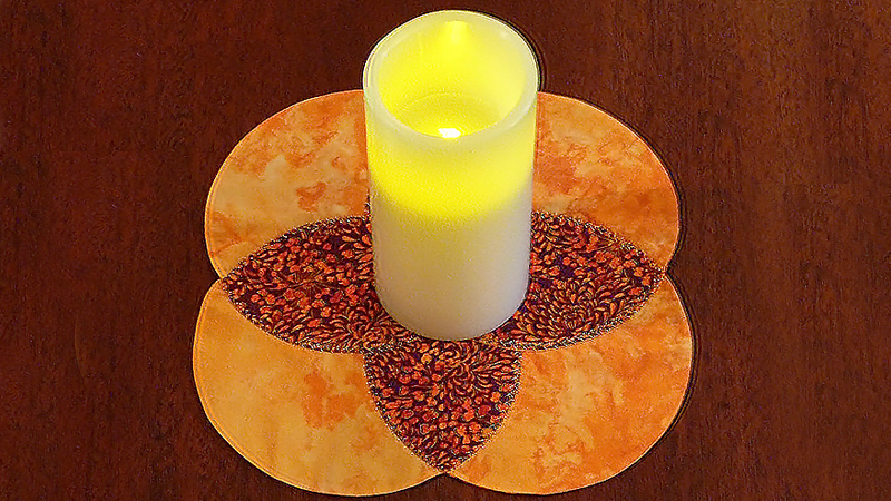 Candle Mat made with Circular Attachment