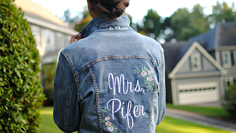 Embroidered Bridal Denim Jacket