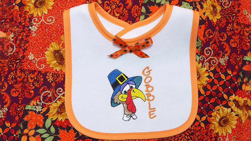 Quick Tip: Thanksgiving Baby Bib