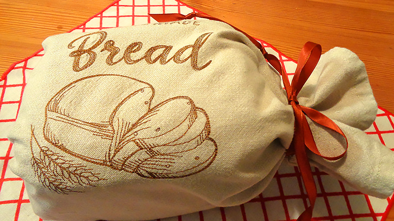 Cozy Homemade Bread Bag Towel
