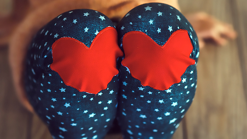 Heart Knee Patches for Pants